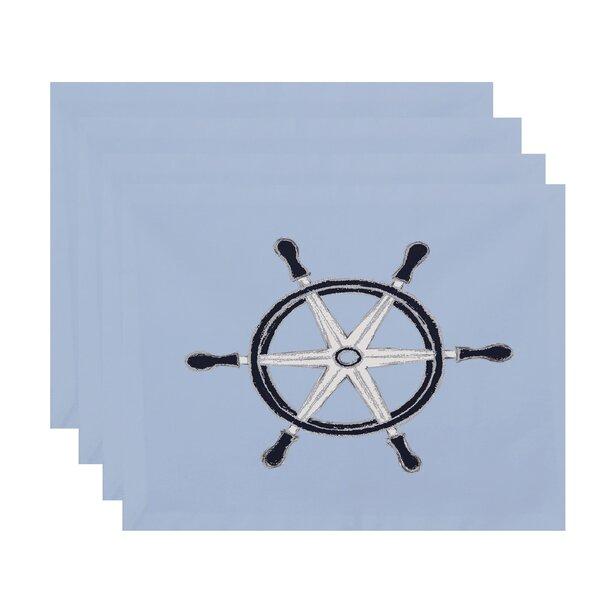 Harriet Ship Wheel Placemat (Set of 4) by Breakwater Bay