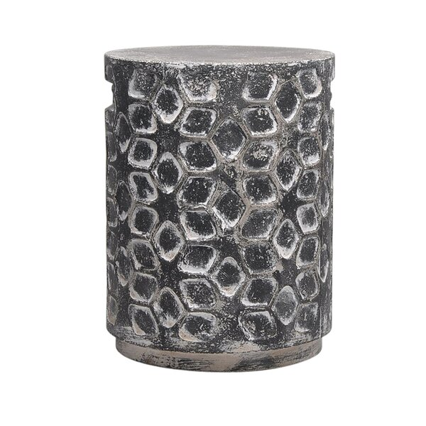 Luke Cement Garden Stool by Bungalow Rose