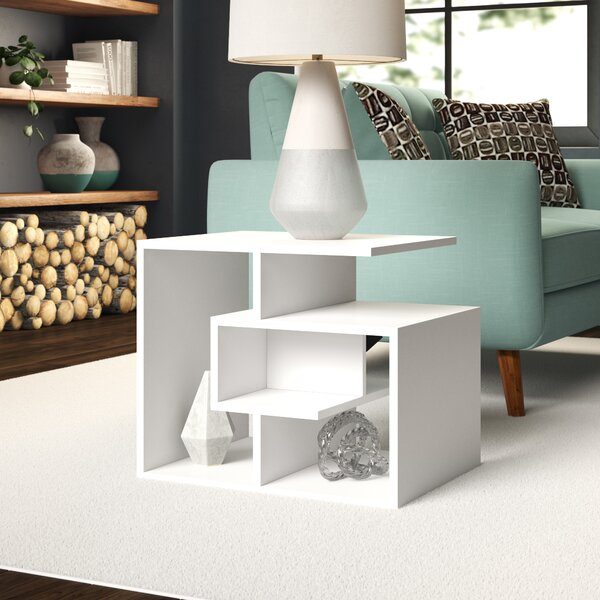 Maliyah Modern End Table by Wrought Studio
