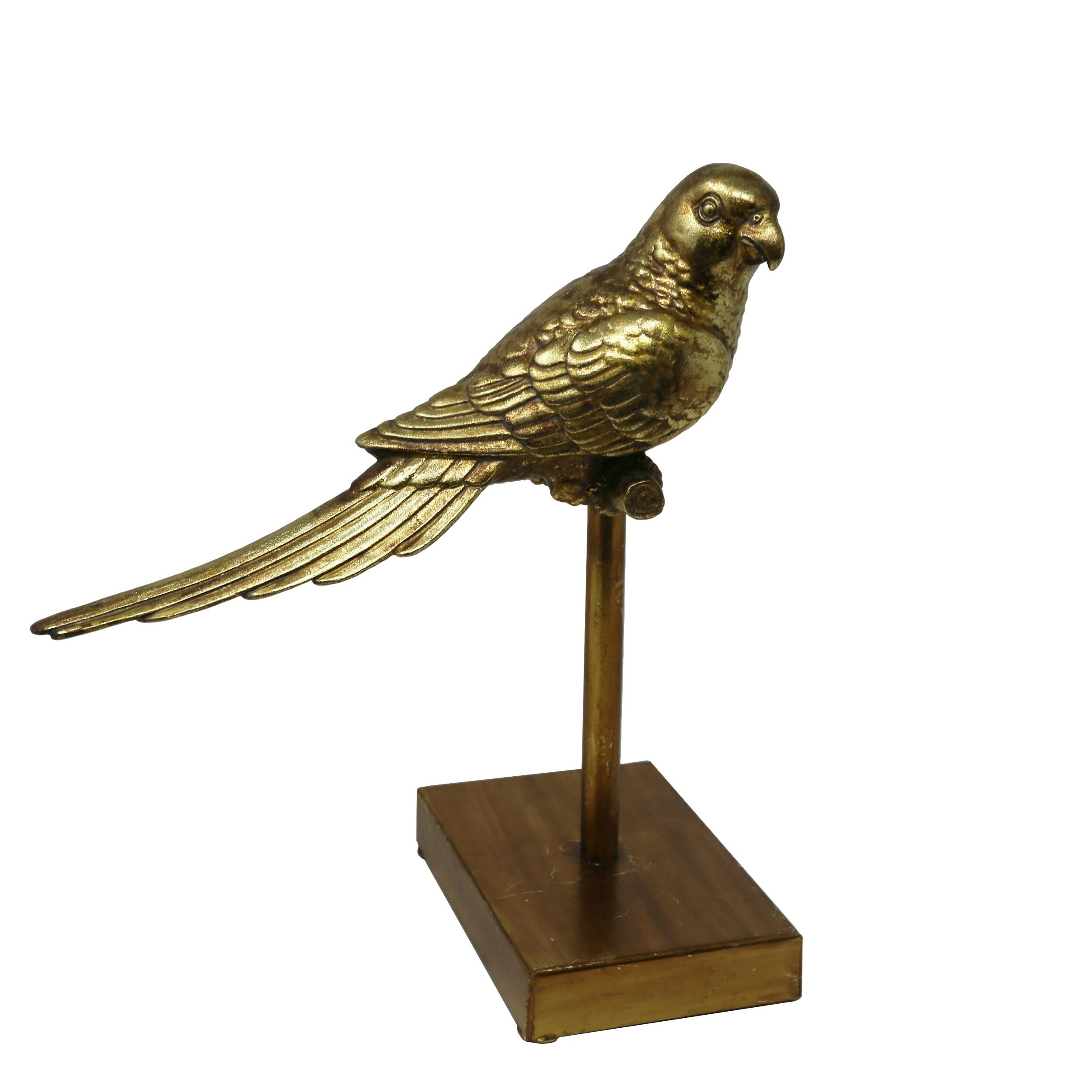 "2.5/"" Natural Red goldsand Crystal Hand-Carved Bird Statue Home Decor Figurine"