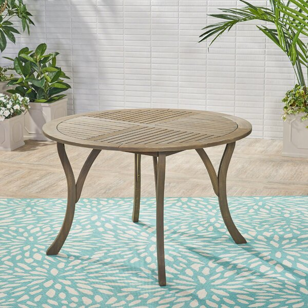 Vanetten Outdoor Wooden Dining Table by Bungalow Rose