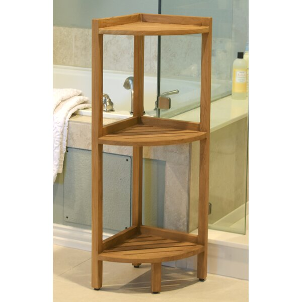 Nakasi 17.3 W x 37.8 H Bathroom Shelf by Beachcrest Home