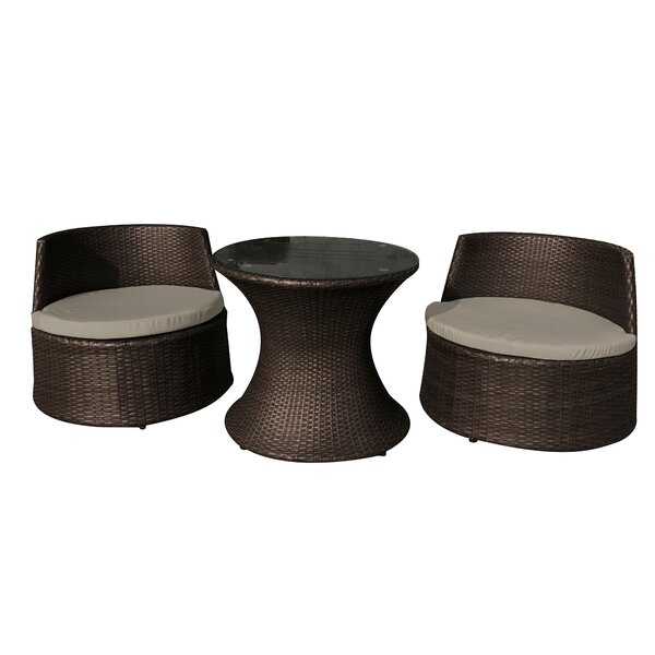 Mcnamara 3 Piece Seating Group with Cushions by World Menagerie