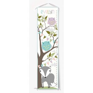 Personalized Fox and Owl Tree Growth Chart by Finny and Zook