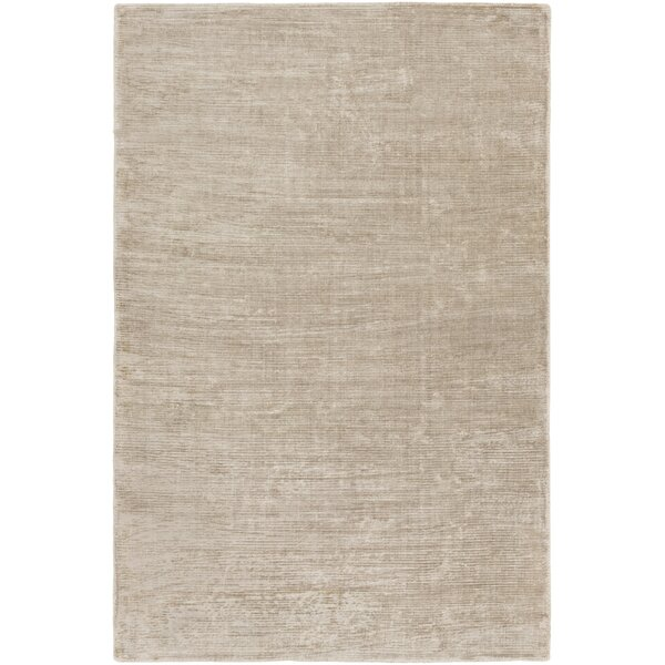 Blosser Hand-Loomed Taupe Area Rug by Wrought Studio