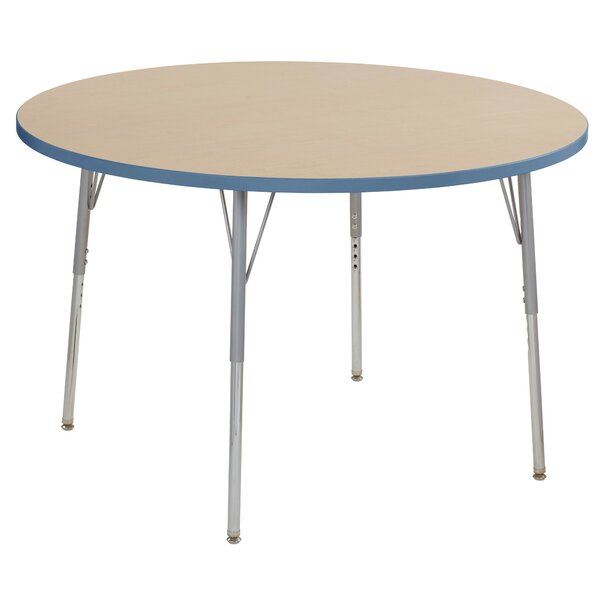Maple Contour Thermo-Fused Adjustable 48 Circular Activity Table by ECR4kids