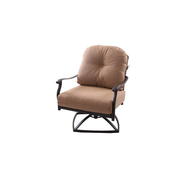 Lenahan Rocker Swivel Recliner Patio Chair with Cushion (Set of 4) by Alcott Hill