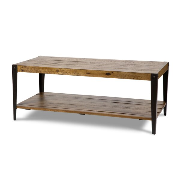 Aspen Solid Wood Coffee Table with Storage by Michael Amini Michael Amini