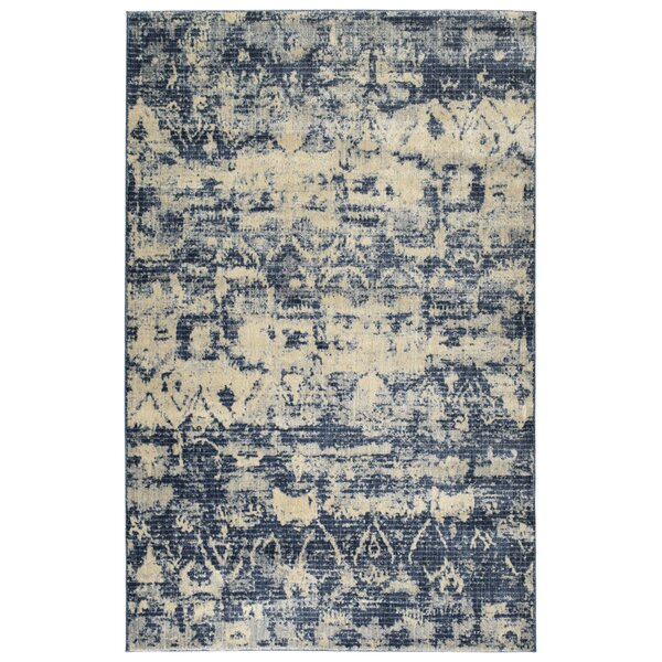 Jada Denim/Linen Area Rug by Bungalow Rose