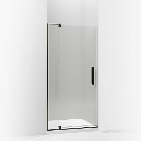 Revel 40'' x 74'' Pivot Shower Door with CleanCoat® Technology by Kohler