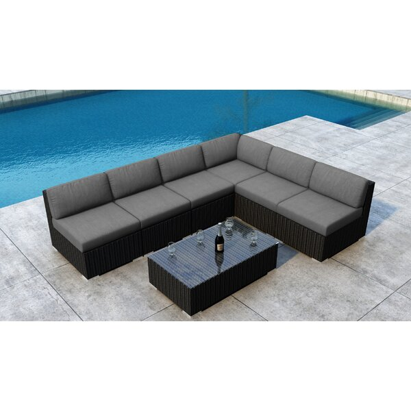 Glendale 7 Piece Sectional Setting Group with Sunbrella Cushion by Everly Quinn