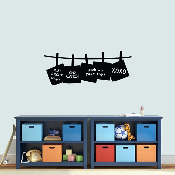 Heiman Chalkboard Pinned Notes Wall Decal by Zoomie Kids