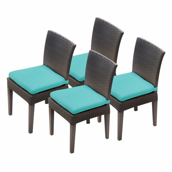 Tegan Patio Dining Chair with Cushions (Set of 4) by Sol 72 Outdoor