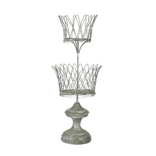 Double Wire Metal Urn Planter