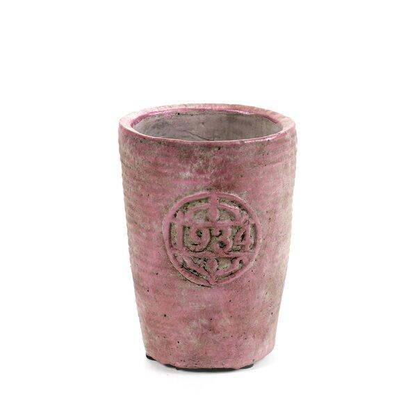 Engebretson Stamp Concrete Pot Planter by Bloomsbury Market