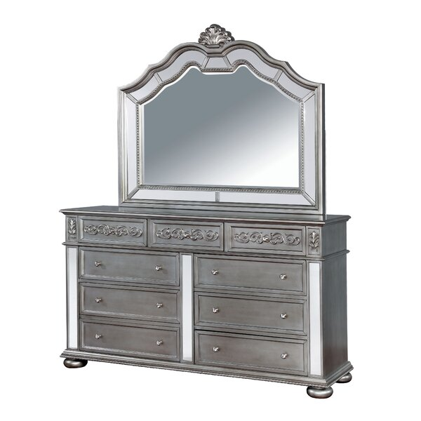 Mcdermott Traditional 9 Double Dresser with Mirror by House of Hampton