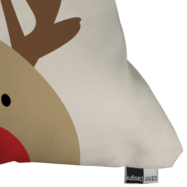 Mouton Reindeer Indoor/Outdoor Throw Pillow by Brayden Studio