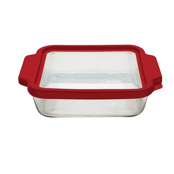 Anchor Rectangular TrueFit Cake Dish with Cover by Anchor