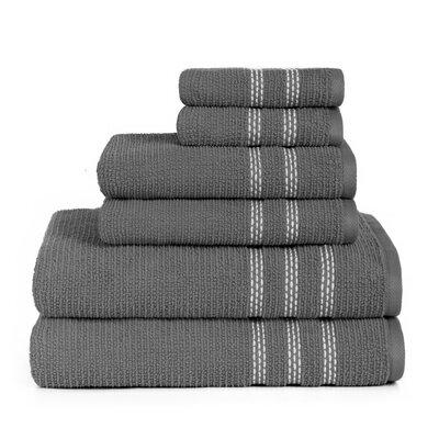 Boehm 100% Cotton Manor Jackson 6 Piece Bath Towel Set Breakwater Bay Color: Castle Rock