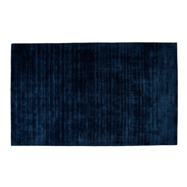 Pressley Hand-Woven Wool Teal Area Rug by Orren Ellis
