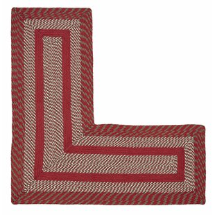 Inexpensive Samara L-Shaped Barn Red Area Rug By August Grove