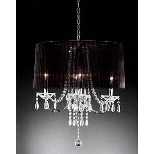 Crystal rain drop chandelier wayfair crystal drop 4 light chandelier aloadofball Gallery