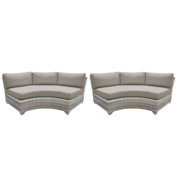 Genevieve Patio Sofa with Cushions (Set of 2) by Rosecliff Heights