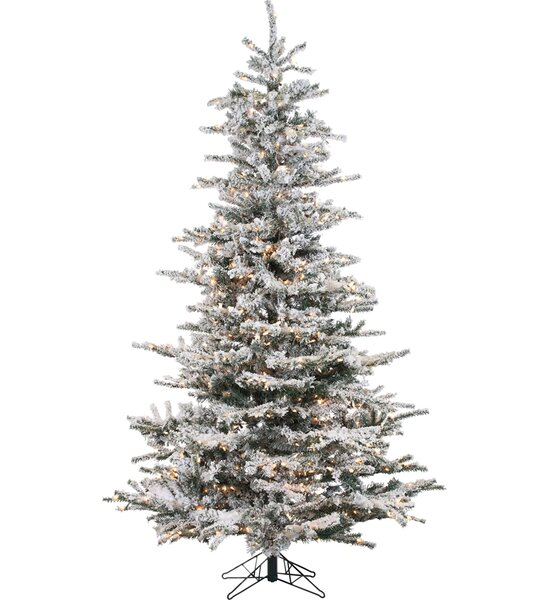 Pre-Lit 85'' White Spruce Trees Artificial Christmas Tree with 750 Clear & White Lights by Lark Manor