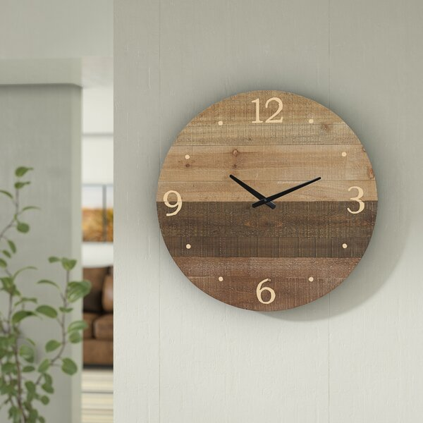 Louisa Round Wood Laser Cut 22 Wall Clock by Union Rustic