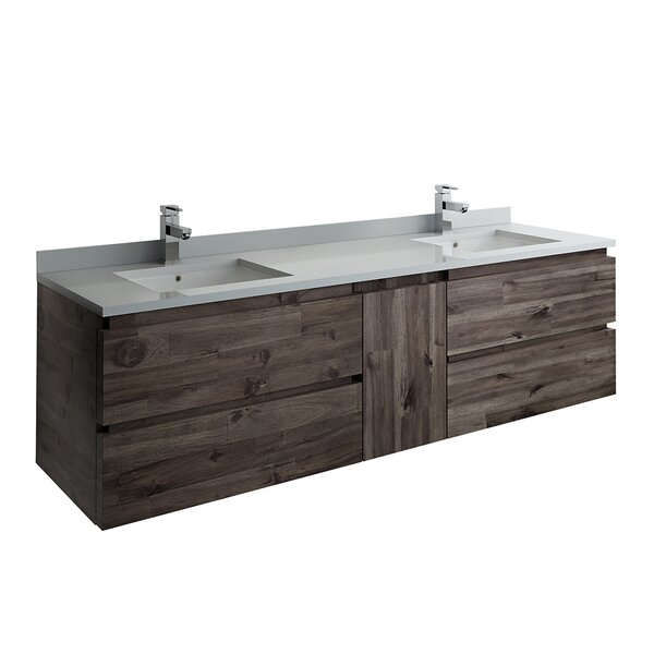 Formosa Wall Hung 70 Double Bathroom Vanity Base Only