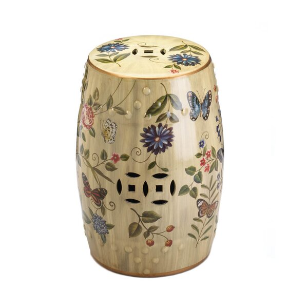 Butterfly Garden Ceramic Stool by Zingz & Thingz