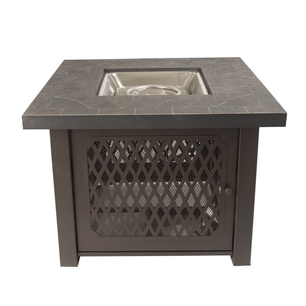 Sheridan Gas Stainless Steel Propane Fire Pit Table by Pleasant Hearth