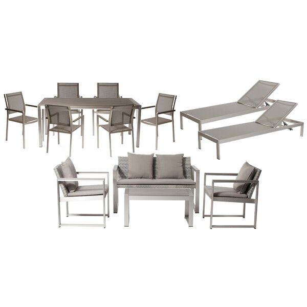 Dorsey 13 Piece Conversation Set with Cushions by Wade Logan