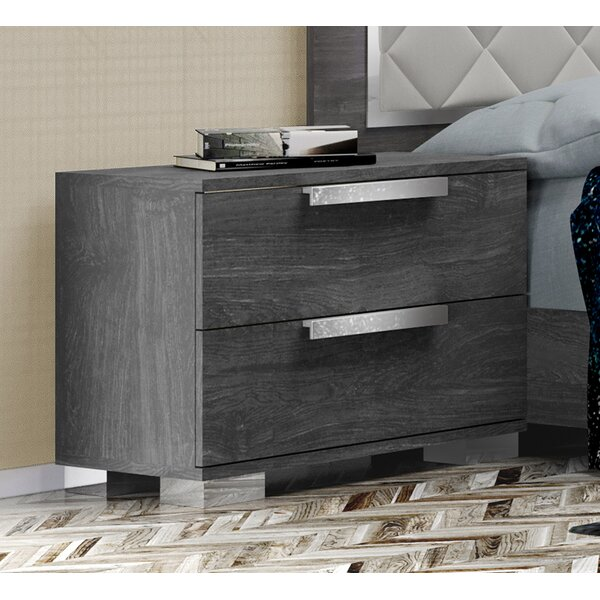 Thurner 2 Drawer Nightstand by Wrought Studio