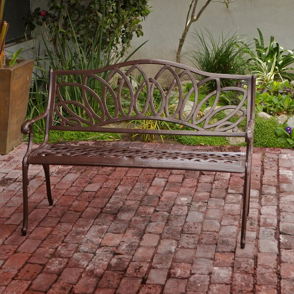 Upper Swainswick Spiral Cast Aluminum Outdoor Garden Bench by Fleur De Lis Living