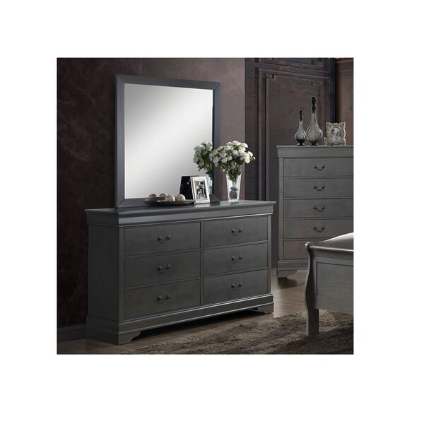 Poulos 6 Drawer Double Dresser by Charlton Home