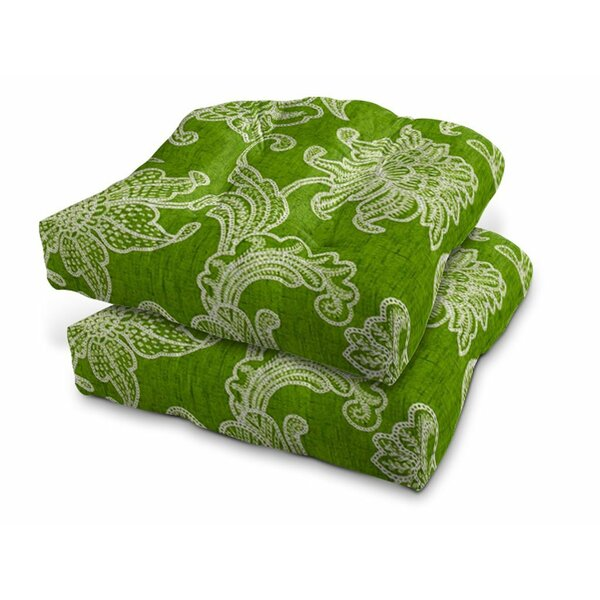 Modern Eco Friendly Indoor/Outdoor Bench Cushion with Zipper (Set of 2) by Bloomsbury Market