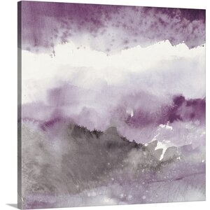 'Midnight at the Lake III Amethyst and Gray' by Mike Schick Painting Print on Canvas by Great Big Canvas