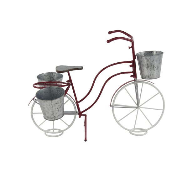 Sterns Eclectic Bicycle Metal Pot Planter by Winston Porter