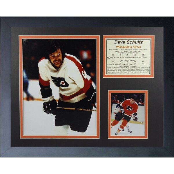 Dave Schultz - Philadelphia Flyers Framed Photographic Print by Legends Never Die