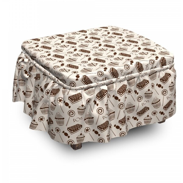 Sweets Cupcakes Lollipops Ottoman Slipcover (Set Of 2) By East Urban Home