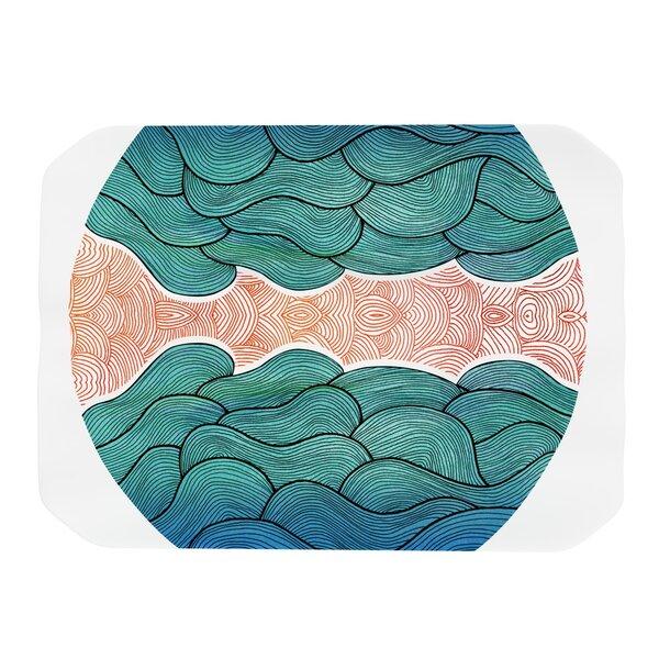 Ocean Flow Placemat by KESS InHouse
