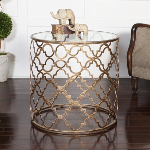 Quatrefoil End Table by Uttermost