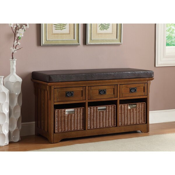 Ridley Multi-Purpose Practical Leather Storage Bench by Canora Grey