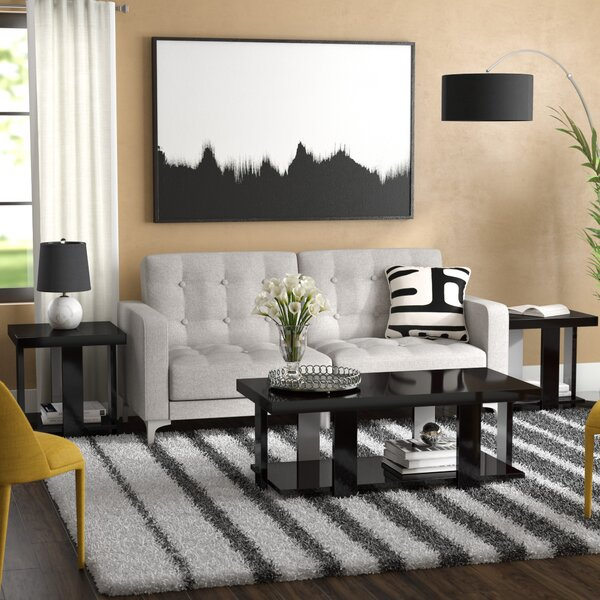 Dicken 3 Piece Coffee Table Set by Wade Logan