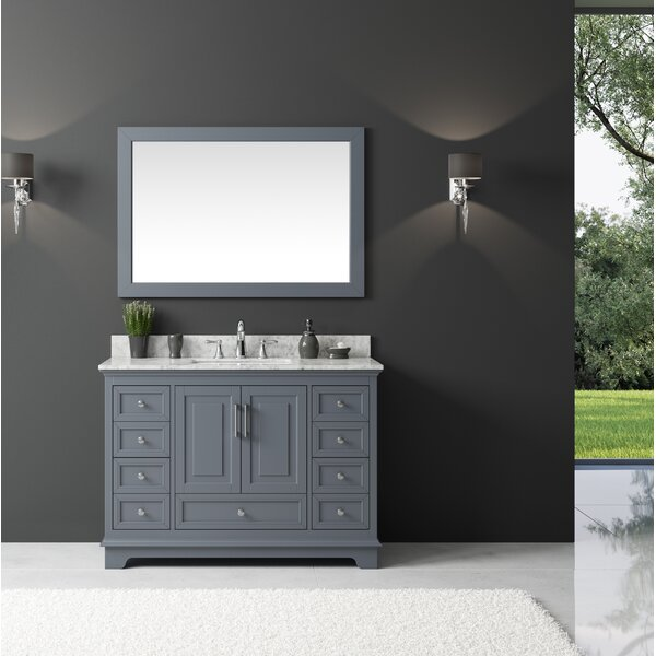 Orin 47 Single Bathroom Vanity Set with Mirror by Rosecliff Heights