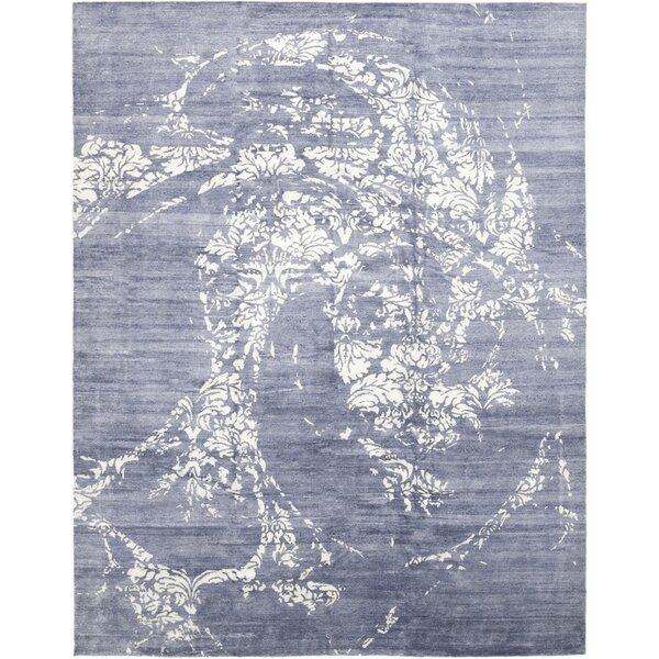 One-of-a-Kind Vamo Hand-Knotted Wool Blue Indoor Area Rug by Brayden Studio