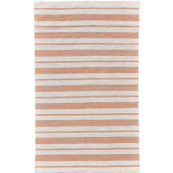 Alicea Hand-Woven Persimmon Area Rug by Three Posts
