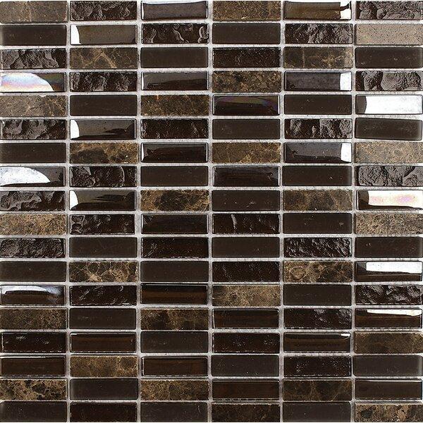 Vsop Blend Stacked 0.625 x 2 Mosaic Tile by Parvatile