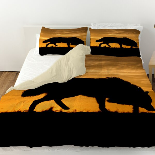 Wolf Silhouette Duvet Cover by Manual Woodworkers & Weavers